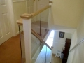 glass balustrade for staircase and landing